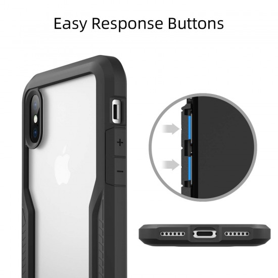 Shock Absorption Bumper Case Compatible with iPhone Xs/X(Semi Clear)