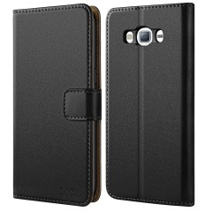 Galaxy S5 Case, HOOMIL [Wallet-style] Premium Leather Wallet Case Slim fit Protective for Samsung Galaxy S5 / Galaxy SV i9600 (Black)