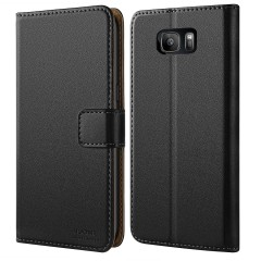 Galaxy S7 Case, HOOMIL [Wallet-style] Premium Leather Wallet Case Slim fit Protective for Samsung Galaxy S7 2016 (Black)