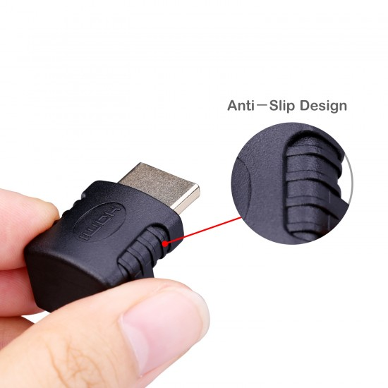 90 Degree Angle HDMI Adapter (2-Pack)