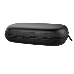 HOOMIL Headphone Case, Hard Carrying Case Portable Pouch Storage Bag for Wired Headset in-Ear Phone Earbuds MP3 USB Cables (Black)