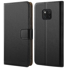 HOOMIL Case Compatible with Huawei Mate 20 Pro, Premium Leather Flip Wallet Phone Case Cover for Huawei Mate 20 Pro (Black)