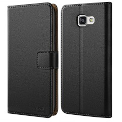 Galaxy A3 2016 Case, HOOMIL [Wallet-style] Premium Leather Samsung A3 (2016) Wallet Case Slim fit Protective Cover for Samsung Galaxy A3 2016 (Black)