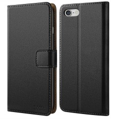 iPhone 7 Case, iPhone 8 Case, HOOMIL Premium Leather Wallet Phone Case Slim fit Protective for Apple iPhone 7 (2016) / iPhone 8 (2017) Cover - Black