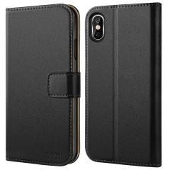 "HOOMIL iPhone Xs Max Wallet case, Durable and Slim, Lightweight with Classic Design & Ultra-Strong Magnetic Closure, Credit Card Slot Flip Magnetic Stand Case Compatible with iPhone Xs Max (6.5"" 2018)"